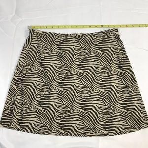 Express Skirt Women's Medium Brown Animal Print